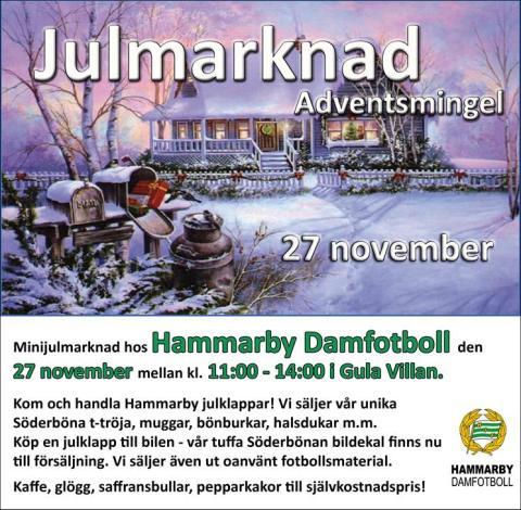 Minijulmarknad hos Hammarby Damfotboll