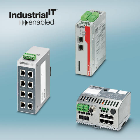 Phoenix Contact Ethernet components have ABB Industrial IT certificatio