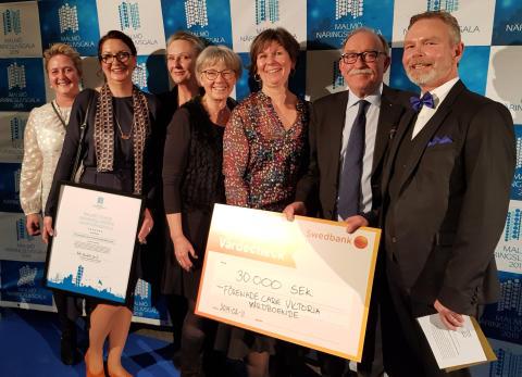 Vinst till Förenade Care Victoria Vårdboende på Malmö Näringslivsgala