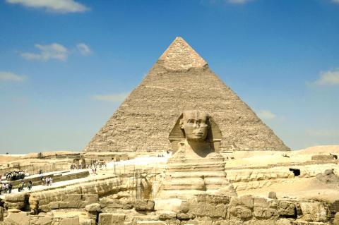 Sfinxen och pyramiderna i Giza