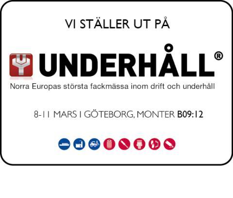 Eigenbrodt ställer ut på Underhållsmässan i Göteborg