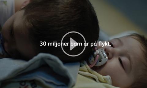 1,3 miljoner blöjor och ekonomiskt stöd till barn på flykt