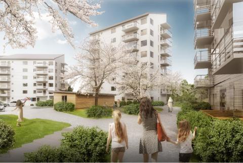 Tommy Byggare har tecknat avtal med Framtiden Byggutveckling att uppföra 114 nya hyresrätter i Tuve Centrum.