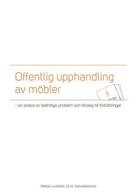 Offentlig upphandling av möbler - rapport av Mattias Lundbäck, Ratio
