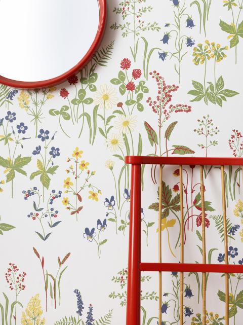 Den blomstertid nu kommer i Sandbergs nya mönster Flora