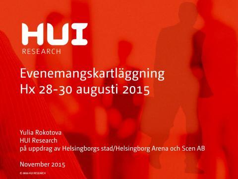Hx 2015 - HUI rapport