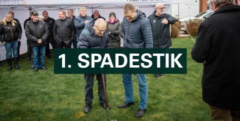 Første spadestik for nye almene boliger i Dronninglund