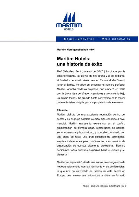 Maritim Hotels - una historia de éxito