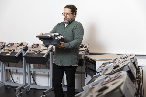 Jens Edlund, universitetslektor vid avdelningen Tal, musik och hörsel på KTH. Foto: Susanne Kronholm.