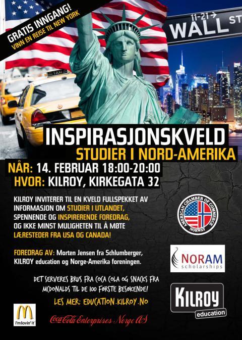 Inspirasjonskveld 14. februar - studier i USA og Canada