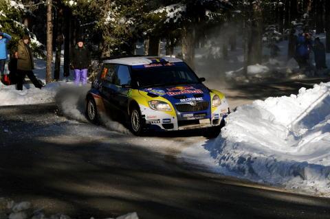 Patrik Sandell och Emil Axelsson under Svenska Rallyt 2010