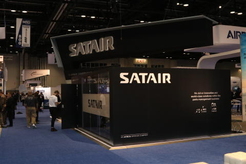Satair's booth at MRO Americas 2018