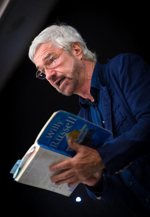 WILLY RUSSELL: The much loved award winning dramatist performed a sell-out show.