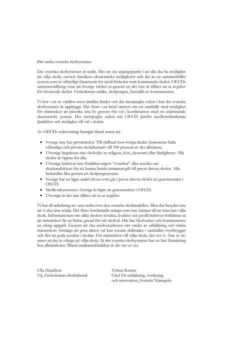 Skolvalssystem inom OECD