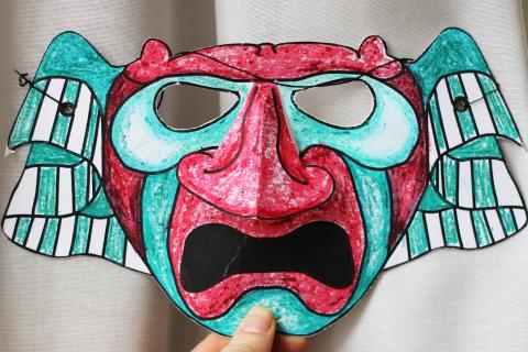 Lav samurai-masker i vinterferien på Nationalmuseet