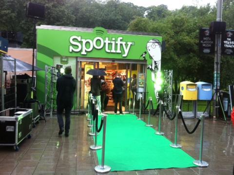 Pressbyrån öppnar Spotifybutik.