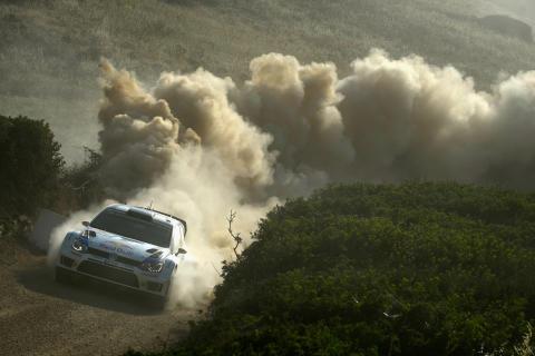 Rally Poland okänd terräng för Volkswagen