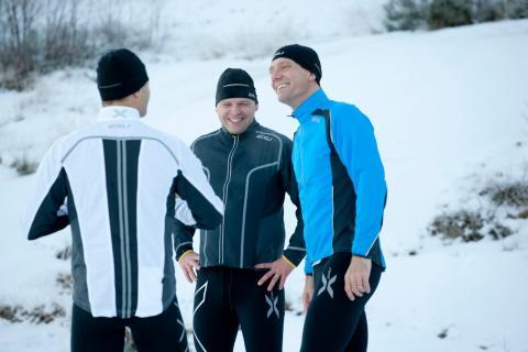 Johnie och Patric laddar för löpträning