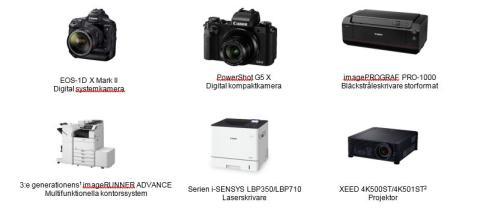 Canon får designutmärkelsen IF Design Awards för sex produkter