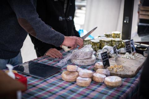 Kungsbacka höstfest, en matfest med lokalproducerat på Kungsbacka torg