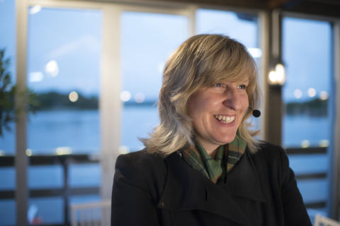 Vicky Stevens,  provningsledare Laphroaig Live 2014