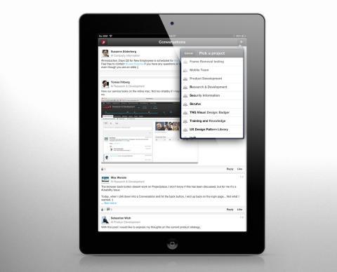 Projectplace ipad app conversation
