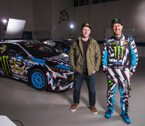 Ford Performance präsentiert neuen Look und neues Logo für Hoonigan Racing; Design stammt von Death Spray Custom