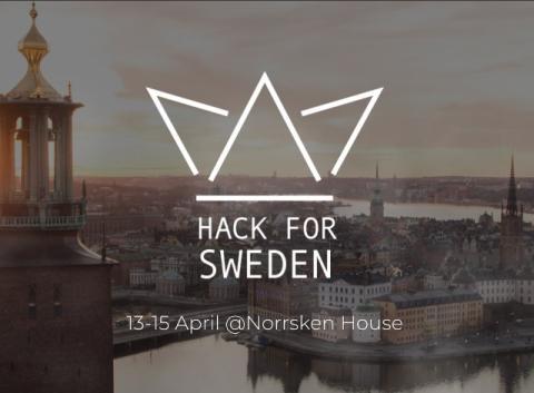 Hack for Sweden öppnar portarna 13 april!