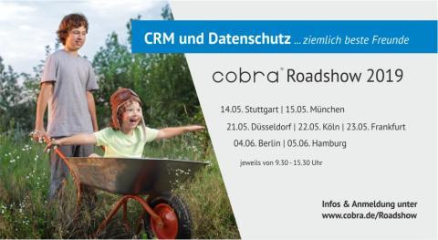 """cobra Roadshow """"CRM und Datenschutz... ziemlich beste Freunde"""" in Düsseldorf"""
