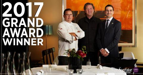 PM & Vänner i Växjö den första och enda restaurangen i Sverige att belönas med Grand Award av Wine Spectator