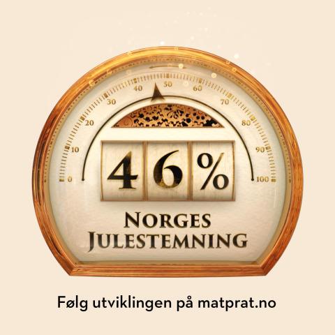 46% julestemning