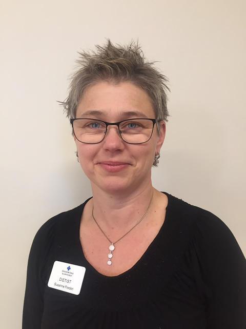 Susanne Fredén, dietist på Akademiska barnsjukhuset