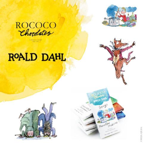 Ny ekologisk choklad med inspiration från Roald Dahls förunderliga värld