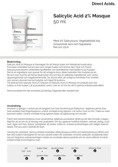 Pressrelease Salicylic Acid 2% Masque