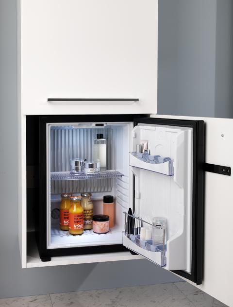 Kylskåp i badrummet