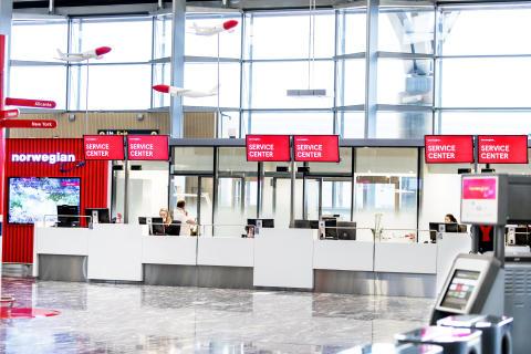 Her er Norwegians splitter nye område på Oslo lufthavn