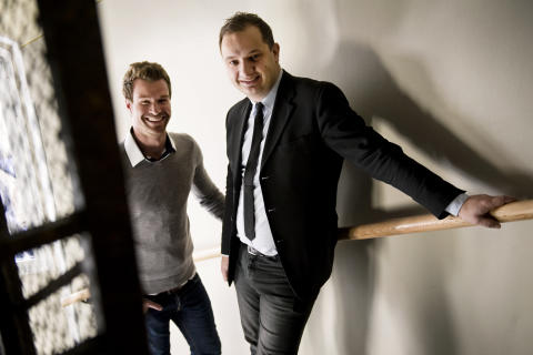 Arno Smit and Daniel Daboczy - co-founders of FundedByMe