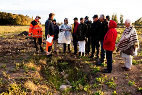 Flintans fantastiska värld – arkeologiafton vid utgrävningen i Södra Sallerup