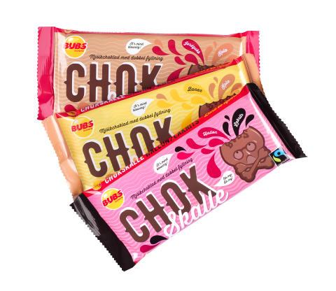 Chokskalle-serien, alla smaker