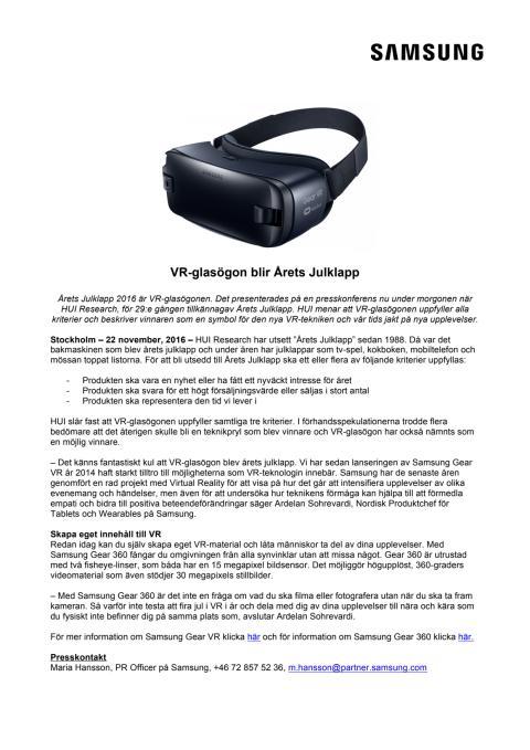 VR-glasögon blir Årets Julklapp