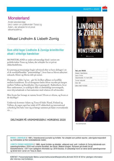 Monsterland af Mikael Lindholm & Lisbeth Zornig