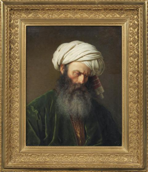 New acquisition: Study of a man in Turkish dress by Amalia Lindegren