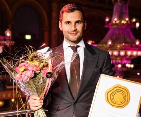 Grundaren av Alguns Åkeri tog igår hem utmärkelsen Årets Unga Entreprenör 2019