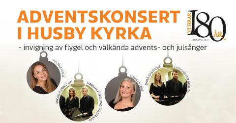 Ny flygel i Husby kyrka - invigs vid adventskonsert den 2 december