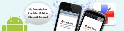 Medinet Schema i mobilen för både iPhone och Android