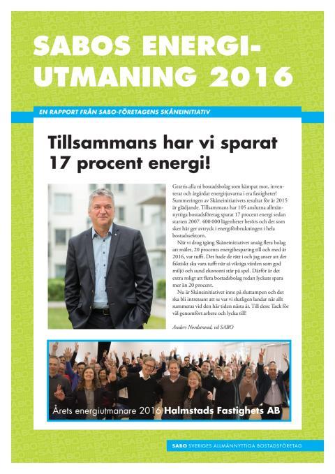Årsredogörelse Skåneinitiativet 2016