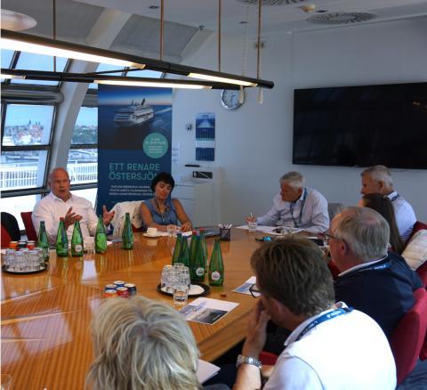 Tallink Silja är på plats i Almedalen och driver debatten om ett renare Östersjön