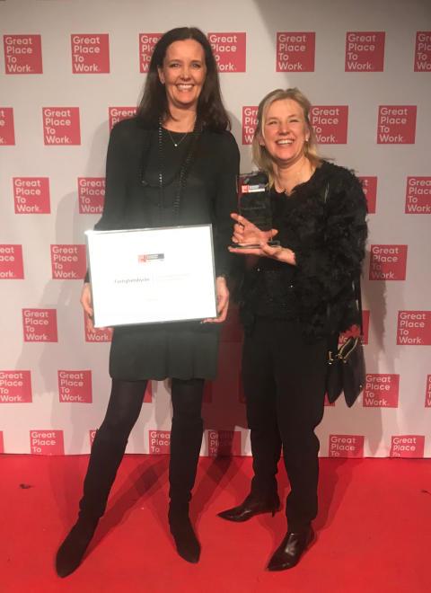Fastighetsbyrån vinner två utmärkelser för bästa arbetsplats
