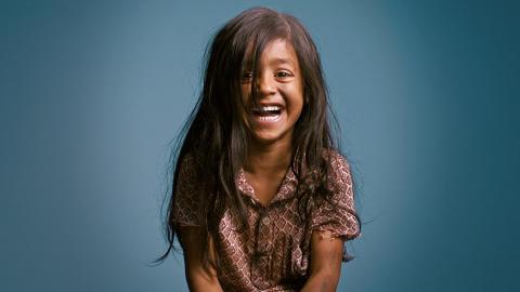 Världens behöver mer barnskratt