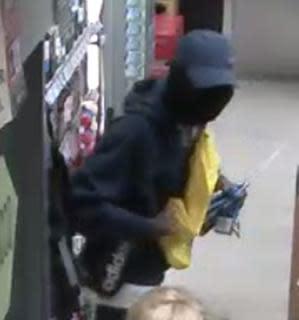CCTV still of robbery suspect, Eltham